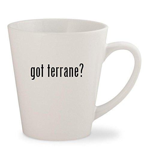 got terrane? - White 12oz Ceramic Latte Mug Cup