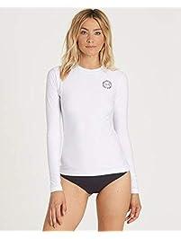 BILLABONG Womens Core Lose Fit Long-Sleeve Swim Rashguard Rash Guard Shirt
