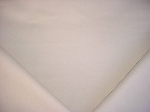 326H9 - Cool Toned Grey White Brushed Cotton Designer Upholstery Drapery Fabric - By the (Brushed Cotton Upholstery)