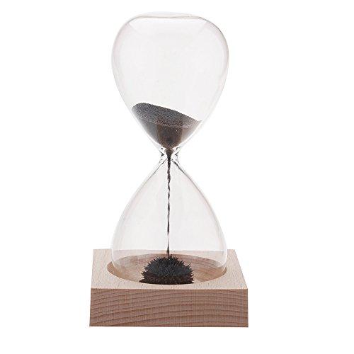 Irishom 1pc Magnet Hourglass Hand-blown Timer Desktop Decoration Magnetic Hourglass