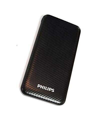 Philips DLP6716CB Fast Charging Power Bank 10000mAh with Lithium Polymer Battery Black (Dual USB Output Port, with Micro… 2021 July 10000mAH lithium Polymer battery 10000mAH lithium Polymer battery, for tablet, mobile phones and other USB charged devices Experience fast charging Charge 2.1A support when charging one device or 5V/2.1A support when charging two devices at once, 1st slot output is 2.1A, 2nd slot output is 1A