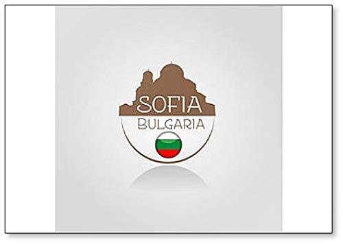 Imán para nevera de Sofía, Bulgaria Classic: Amazon.es: Hogar