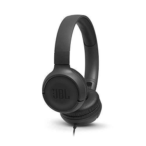 JBL Tune 500 by Harman Powerful Bass On-Ear Headphones with Mic (Black)