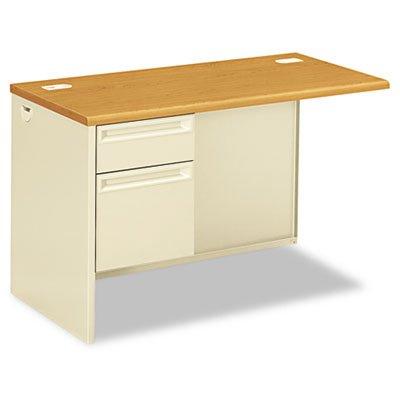 Desk Left Pedestal Return (Hon Left Pedestal Return Desk with Lock, 48 by 24 by 29-1/2-Inch, Harvest/Putty)