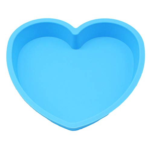 (X-Haibei 8-inch Heart Shaped Cake Pan Chocolate Baking Tray Silicone Mold Valentine's Gift)