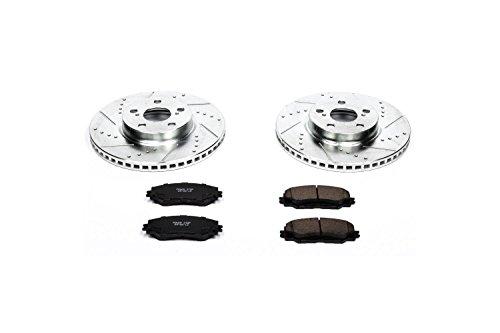 Brake Kit Part (Power Stop K4669 Front Z23 Evolution Brake Kit with Drilled/Slotted Rotors and Ceramic Brake Pads)