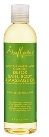 SheaMoisture African Wild Water Mint Massage Oil 8oz Water Massage