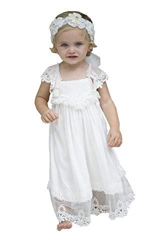Magicdress Boho Flower Girl Dress Lace for Wedding White Communion Dresses 321]()