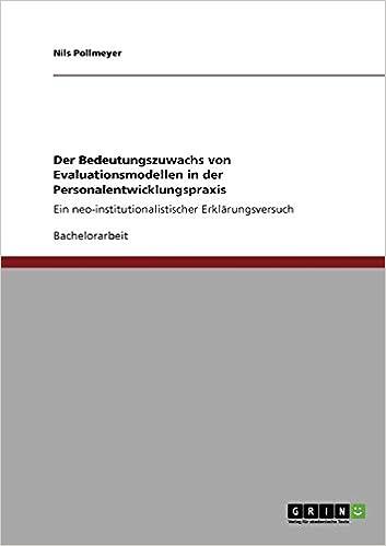 Book Der Bedeutungszuwachs von Evaluationsmodellen in der Personalentwicklungspraxis