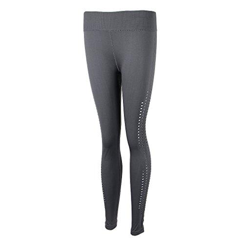 Homyl Pantalones de Mujer Deportes Entrenamiento Gimnasio Atlético Fitness Yoga Ropa Disfraz Tropical Ropa Cómoda gris claro