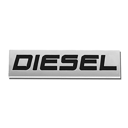 DIESEL Black/Chrome Aluminum Alloy Auto Trunk Door Fender Bumper Badge Decal Emblem Adhesive Tape Sticker