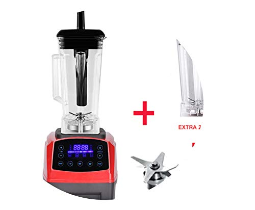 Automatic Digital Smart Timer Program 2200W Heavy Duty Power Blender Mixer Juicer Food Processor Ice Smoothie Bar Fruit,Red Jar Full Parts,Us Plug