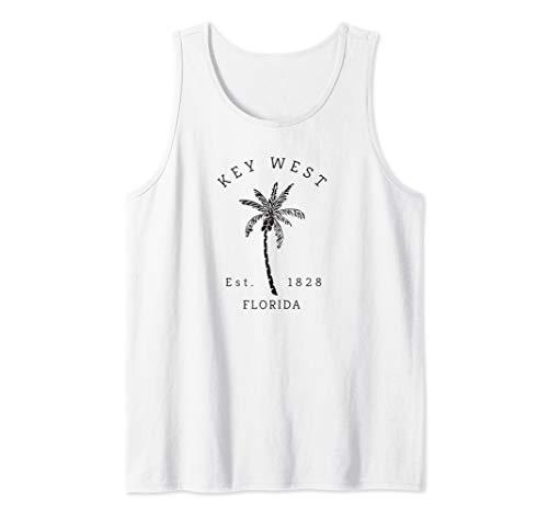 Retro Cool Key West Florida Palm Tree Novelty Art Tank Top