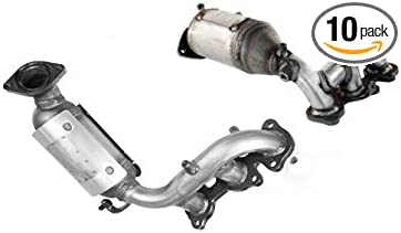 Catalytic Converter for 2004-2006 Toyota Sienna FWD//Lexus RX330 2004-2007 Toyota Highlander 3.3L EPA Compliant Driver Side Direct-Fit High Flow Series