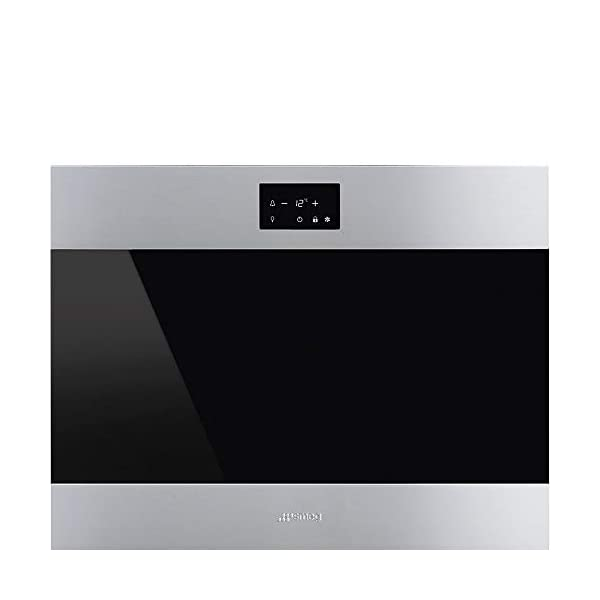 Smeg CVIU318RX Stainless Steel Built-In Wine Cooler 24-Inches with 18 Bottle Capacity, Right Hand Hinge 1