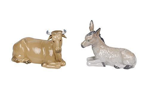 Lladro Nao Set of 2 Nativity Animals - Calf (#309) & Donkey (#310)