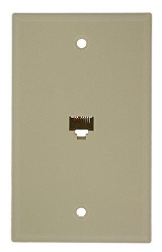 Leviton 40280-I Standard Telephone Wall Jack, Ivory -