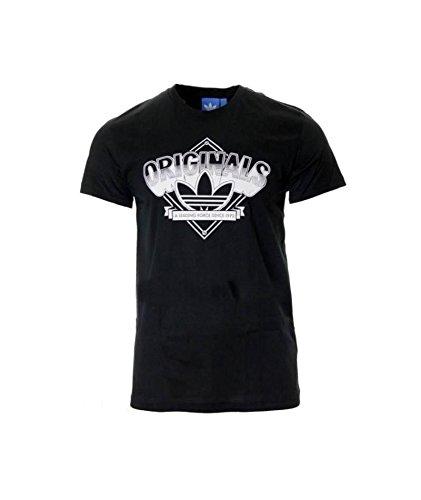 adidas Originals Camiseta Para Hombre XS – 156 cm Negro Small