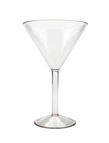 Martini Glasses Unbreakable Cocktail Glass BPA Free Reusable Dishwasher Safe 9.5 oz Tritan Set of 4 By AYT