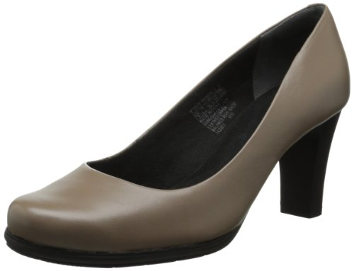 Rockport Women's Total Motion Pump Fossil Full Grain Leather MiHttJY0VK
