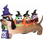4' Airblown Inflatables Halloweiner Dog Halloween Decoration]()