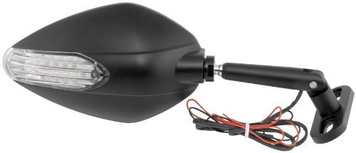 BikeMaster Candy Drop Sport Bike Mirror - Black with Turn Signals KS-A52B ()