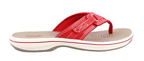 clarks-womens-breeze-sea-flip-flop-new-red-synthetic-8-m-us