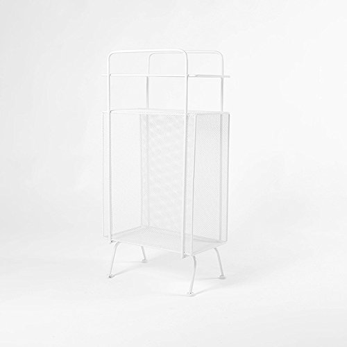 Iron creative corner frame / shelf / floor multi-function shelves / storage rack ( Color : White ) by Flower racks - xin