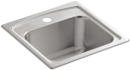 KOHLER K-3349-1-NA Toccata Self-Rimming Entertainment Sink, Stainless Steel Self Rimming Bar Sink