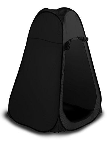感謝祭セッション消毒剤SEIKOH ワンタッチテント 着替えテント プライベートテント 110×110cm 高さ193cm ブラック ODST4BK