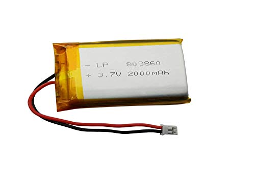 3.7 Volt Lithium Ion Battery for DS4 Battery,PS4 Controller Battery Polymer Lithium Ion Battery 2000mah Lp 803860 Compatible with Playstation 4 - Dual Shock 4 Wireless Controller ()