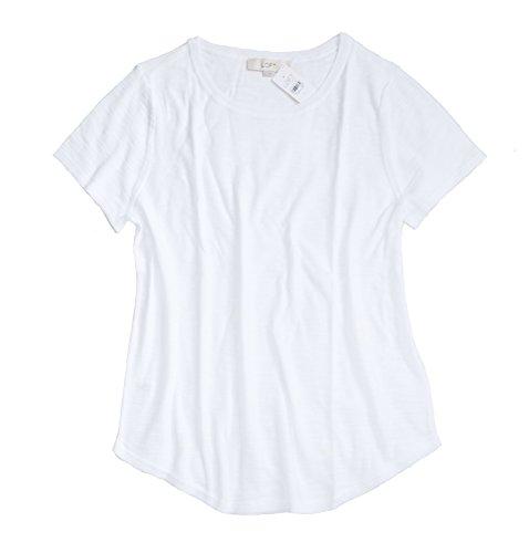 Ann Taylor Loft Womens   Crisp White Cotton Sweater Tee  Large