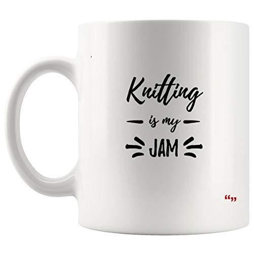Sarcastic Mug - Funny Team Cup Coffee Mugs Knitting Jam Funny Knitter Gift Idea | Christmas Gifts for Mom Dad