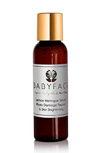 Babyface Lemon Meringue Skin Lightening Bleach Serum & Sun Photo Damage Repair 2.2 oz. (Lemon Skin Lightening Serum)