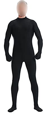 Ensnovo Mens Mock Neck Full Body Unitard Spandex Zentai Suits Costumes