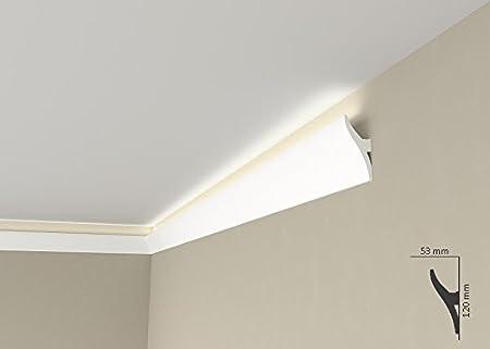 Lichtleisten Für Indirekte Beleuchtung | Lichtleiste Ql010 Stuckleiste Fur Indirekte Beleuchtung Aus