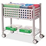 Rolling File Cart,w/OpenTop,28-1/4''''x13-3/4''''x27'''',Matte GY, Sold as 1 Each