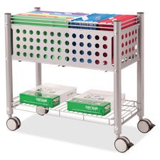 Rolling File Cart,w/OpenTop,28-1/4''''x13-3/4''''x27'''',Matte GY, Sold as 1 Each