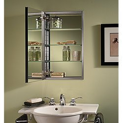 Elegant Jensen S468244SS Studio IV Series Recessed Beveled Mirror Medicine Cabinet,  White Part 22