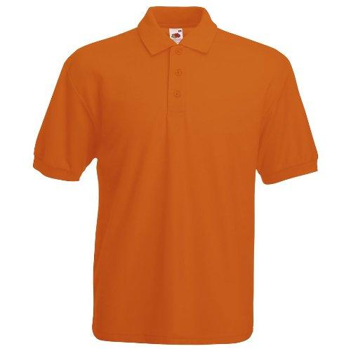 Fruit Of The Loom Premium Polo L,Orange