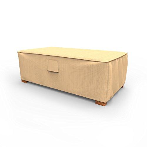Budge Chelsea Patio Ottoman Cover / Coffee Table Cover, Medium (Tan) ()