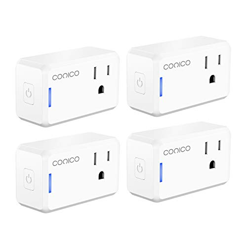 Smart Plug, Conico Mini WiFi Outlet Works with Alexa, Google Assistant and IFTTT for Voice Remote App Control, Wireless Socket with Smart Scene Schedule Timer Device Sharing, No Hub Required (4 Pack)