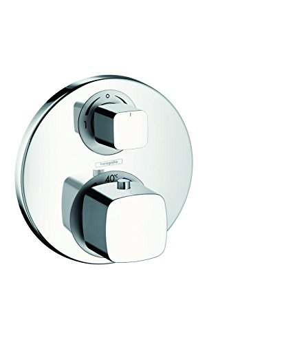 Hansgrohe Ecostat E 31573000 Pre-Assembled Thermostat Set Flush-Mounted with Shut-Off and Diversion Valve Chrome by Hansgrohe