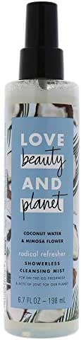 Love Beauty and Planet Coconut Water and Mimosa Flower Showerless Cleansing Mist By Love Beauty and Planet for Unisex - 6.7 Oz Body Mist, 6.7 Ounce