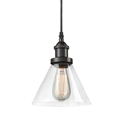 Pendant Lighting Bronze Glass in US - 4