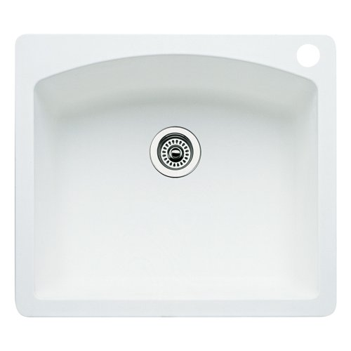 Blanco 511-611 Diamond 25-Inch-by-22-Inch Single Bowl Kitchen Sink, White Finish