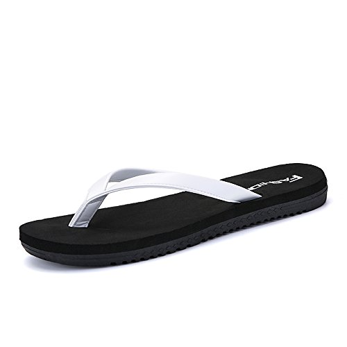 White Women Durable Flip and Black 7 amp;Baby Classic Size MUS Sunny Black Slipper White Flops Men's Color aqS4xgw5g
