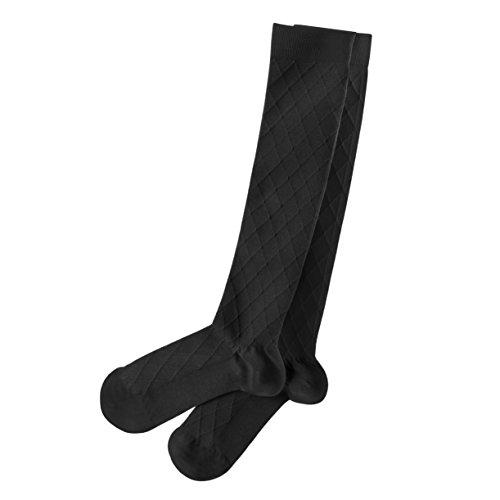 Travelon Medium Compression Socks, Black, One Size