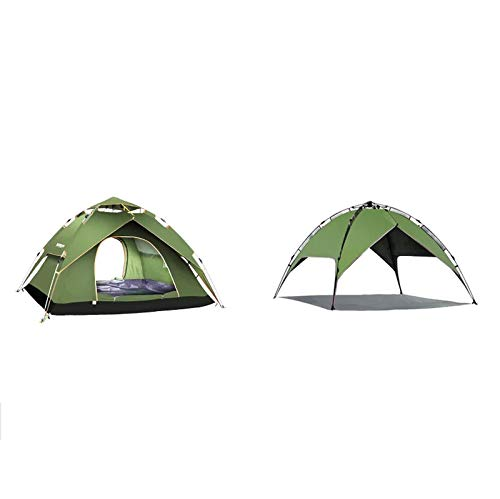 Green Garden and Camping Activities, Sturdy Steel Pole Structure, Large Event Tents, Portable Sunshades with Sun Predection (color   Dark Green)