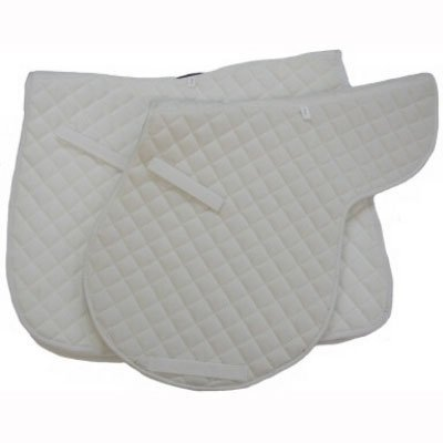 Roma Economy All Purpose Saddle Pad - White, Full ()